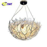 FUMAT LED عش الطائر قلادة الأنوار شخصية حديثة بسيطة شرفة غرفة المعيشة الأطفال نوم الإضاءة لامبارا colgante