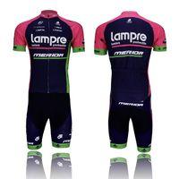 사이클링 저지 저지 남성 패션 자전거 사이클링 턱받이 LAMPR 블랙 야외 자전거 의류 짧은 소매를 설정 자전거 착용 옷