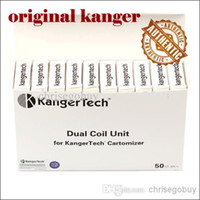 Original Kanger Dual Coil per Kangertech genitank giant ii Protank 3 Mini Aerotank Mega turbo EVOD 2 vetro topevod pro genitank emow coils