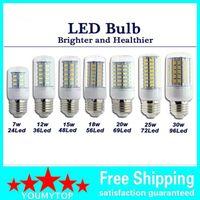 SMD 5730 E27 LED Lampe 7W 12W 15W 18W 20W 25W 30W 5730SMD LED beleuchtet Mais geführte Birnenleuchterbeleuchtung