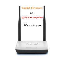 تيندا لاسلكي واي فاي راوتر مكرر QOS 300MBPS الإنجليزية أو البرامج الثابتة N300 W308 11B / G / N إشارة الداعم 4LAN 1wan / 3lan 1wan
