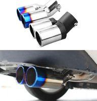 Para Kia Rio K2 2012 2013 2014 2015 Silenciador de escape del coche Tubo de cola trasera Silenciadores de garganta Consejos Cubiertas de carreras Accesorios para automóviles