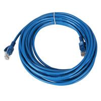 25 피트 CAT5 RJ45 이더넷 네트워크 케이블 블루