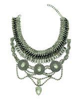 Monili etnici della collana di dichiarazione etnica di cristallo della catena del serpente dei gioielli di stile della catena ampia di stile europeo