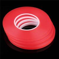 Transparente transparente adhesivo transparente doble cara cinta adhesiva resistente al calor Universal adhesivo de reparación de teléfono móvil rojo