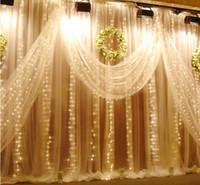 Luces de navidad AC 220 V EU / AU / EE. UU. Romántico Fairy Star LED Cortina de iluminación de cadena para vacaciones de boda Guirnalda fiesta ventana decoración luz