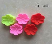 200 unids / lote 5 cm Begonia flores en forma de moldes de silicona jabón de la mano del molde de silicona del molde de la torta Fondant Cake Decorating herramientas