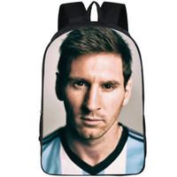 مشجعي كرة القدم على ظهره ليونيل ميسي daypack حقيبة مدرسية صورة لطيفة حقيبة الظهر الرياضة حقيبة مدرسية