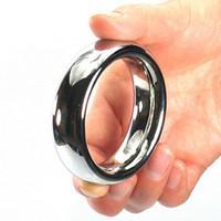 둥근 메탈 콕 링 스테인레스 스틸 페니스 링 남성용 40mm / 45mm / 50mm 링 지연 시간 페니스 루프, 어른 용 제품 SM606