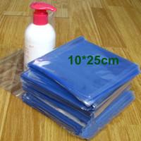 """10 * 25 cm (3.9 * 9.8 """") de Plástico Bolsa Termoencogible Abierto Superior PVC Transparente Bolsas planas de Termoencogimiento Envoltura de Película Estuche de Embalaje de Productos Básicos Cosméticos"""