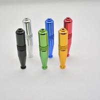 torpedo vorm metalen pijp roken aluminium tabak sigarettenpijp 5 kleuren bieden ook molen quartz titanium nagel tool