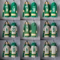 미네소타 North Stars Hoodie 14 Jamie Benn 91 타일러 Seguin 15 Patrik Nemeth 27 Moen 38 Vernon Fiddler Hockey Jerseys Hoodies 스웨터