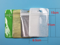 Clear Colors Pearl Plastic Poly Bags OPP Packing Zipper Lock...