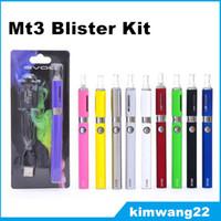EVOD MT3 Blister Kit E Cigarette Starter Kit MT3 evod Atomizador EVOD Baterías 650mAh / 900mAh / 1100mAh con paquete de blister de cargador USB