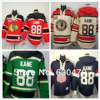 2016 Yeni, Yeni Chicago Blackhawks 88 Patrick Kane Hoodies Tişörtü Yeşil Hokey Olimpiyat Patrick Kane ABD Hoodies Jersey Eski Zaman