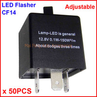 50PCS CF14-KT LED Flasher Adjustable Color 3 Pin Electronic Relay Module Fix Auto LED Turn Signal Error Flashing Blinker 12V 0.02A TO 20A