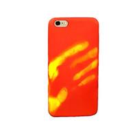 Para iPhone, PC térmica Sensor Caso mudança da cor térmica de calor indução telefone tampa traseira para iphone7plus / 8plus