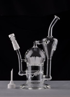 JM Flow Glas Bongs Glas Bong Dicke Große Recycler Ölplattformen mit Sprinkler Perc Arm Baum Perc Percolator Wasserpfeifen Freies Verschiffen