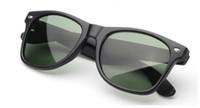 2015 siyah çerçeve yeşil Cam lens erkekler kadınlar Güneş Gözlüğü Klasik UV400 50mm 54mm Güneş Gözlükleri Gözlükler Gözlük
