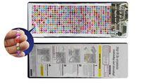 Toptan Satış - Toptan-1 Sayfalık / 1000pcs Kristaller Boncuk Nail Art DIY Deco RENKLİ 4mm Rhinestones Yapışkanlı Diamantes Stick