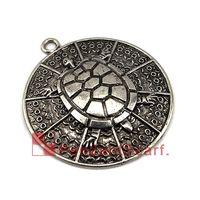 Estilo de la manera Collar de DIY Bufanda de la joyería Colgante Encanto Diseño elegante de la tortuga Ronda Placa Bufanda Joyería colgante, envío libre, AC0410A