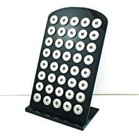 Brand New 18mm Snap Button Display Stand Fashion Alta qualità nero acrilico display gioielli intercambiabili