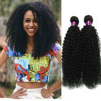 3`lü Kinky Kıvırcık Bakire Saç Brezilyalı Kıvırcık Bakire Saç En İyi Kıvırcık İnsan Saç Dokuma 8A İşlenmemiş Virgin Brezilyalı Kinky Satışa