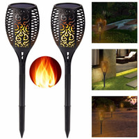 Edison2011 Solar Lamp Garden Waterproof 96 LEDs Tiki Torch L...