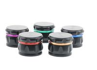 Yeni Dört katmanlı Çinko Alaşım Davul-tipi Renk Öğütücü Çapı 63MM Pahlı Elmas şeklindeki Renk Karıştırma Değirmeni Sigara