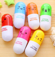 400pcs pillola a forma di penna a sfera ritrattabile penne a sfera creativa cancelleria per bambini regali