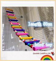 送料無料小型鳥のオウムオウムのサプライ品クライミングラダースイングおもちゃケージバー木製の梯子上昇駅