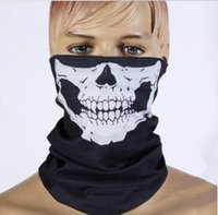 Unisex Halloween Cosplay Bicycle Skull Skull Media máscara facial Fantasma bufanda Bandana Neck Warmer Party diadema Magic Turban balaclava