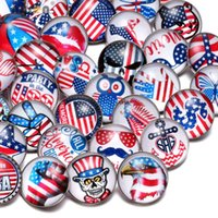 Wholesale 50pcs Lot Mixed USA Symbol Pattern Multi 18mm Glas...