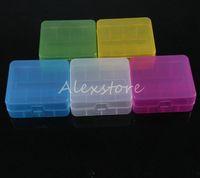20pcs Portable En Plastique Batterie Case Box Holder Sécurité Storage Container 5 couleurs pack batteries pour 2 * 26650 ou 3 * 18650 batterie au lithium