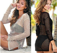 Sexy Womens Bikini Cover Ups Knitted Free Size Solid Color B...