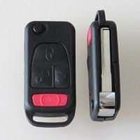Cassa chiave della sostituzione dell'automobile di alta qualità per trasporto libero delle coperture in bianco 10pcs / lot di vibrazione chiave a distanza di vibrazione del bottone di Mercedes Benz 3 + 1