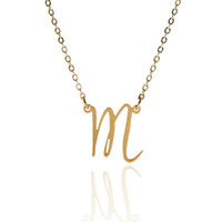 Fashion Gold plated Initial Letters Necklace for Women Stain...