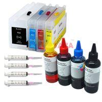 Livraison gratuite Recharge Encre de teinture et cartouche pour HP Officejet Pro 8600 PRO 8100 PRO 251DW PRO 276DW PRO 276DW avec des puces permanentes