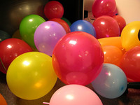 500 Pcs Latex Assorted Multicolored Balloon Wedding Favor Pa...
