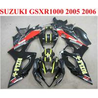 Carene carrozzeria per SUZUKI 2005 2006 GSXR1000 K5 K6 rosso nero RIZLA + 05 06 GSXR 1000 carenatura nuova TF66
