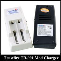 Authentic Trustfire TR001 Ladegerät TR-001 Vape-Ladegerät mit zwei Steckplätzen für 18650 18500 18350 17670 14500 10440 Lithium-Batterie