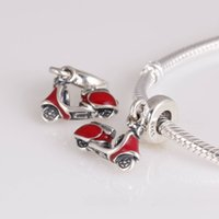 Authentic 925 Sterling Silver Bead Motorcycle Charm European Women DIY  Jewelry Fits For Pandora Original Bracelet