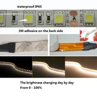 Светодиодная лента 5050 RGB Теплый Белый 3M клей светодиодные полосы света IP65 Водонепроницаемый 12 В DC 5M 300 LED