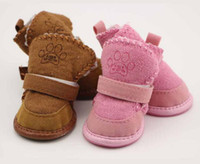 Classic Pet Shoes for Dogs Cats Winter Small Dog Anti-slip Boots Yorkshire Snow Boots Chihuahua Supplies Pet Products G1079
