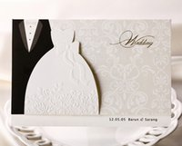 Personalized Wedding Invitations Cards Traditional Tuxedo Dr...