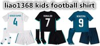17 18 Real Madrid kids soccer jersey kits child jerseys kits...