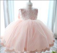 유아 아기 세례 드레스 2,019퍼센트 100 실제 사진 레이스 유아 여자 파티 공주 드레스 전체 연도와 월 의류 소매 K366의 경우