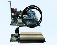 PCI-Express x1 PCIe TO 2 Adaptateur Routeur PCI Double carte PCI Riser Get Tow PCI