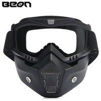 2016 neue authentische Beon Retro Modelle Off-Road Motorrad Helm Brille Goggles Cross Country Anti-Nebel-Brille Maske schwarze Farbe
