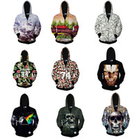 Punk Tide Men Hoodies iswa Men 3D three- dimensional Body Sku...